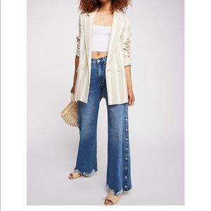 Free People Jeans: ZEE GEE WHY Snap Jeans (white)